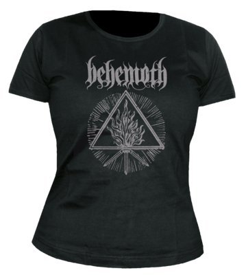Behemoth Furor Divinus New Official Womens Black Skinny Fit T-Shirt All Sizes