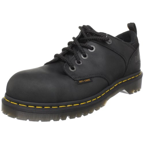 [Dr. Martens Ashridge Steel Toe Oxford,Black,10 UK/12 M US Women's/11 M US Men's] (Dr Martens Work Shoes)