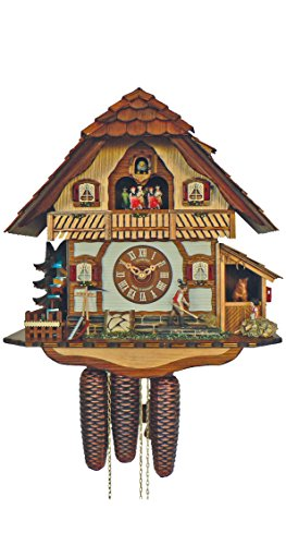 Anton Schneider Cuckoo Clock Black Forest house with moving horse