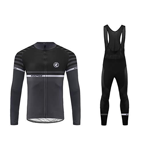 Uglyfrog Mens Cycling Jersey + Bib Tight Set Thermal Cold Wear Long Sleeves Bicycling Top/Pants Set