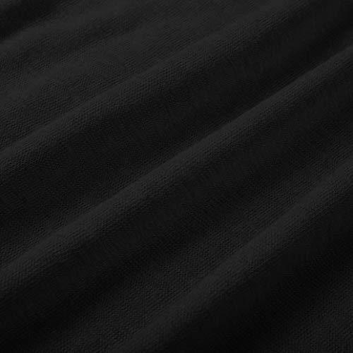 Shirt Camicie Cime Bluse Magliette Scollo Patchwork Manica e Autunno Lunga Donna Donna V Pulsante Donna Chiffon con Fit Elegante t Camicia Casuali Top Donne Nero feiXIANG Slim Pizzo in BrHwpBnqx4
