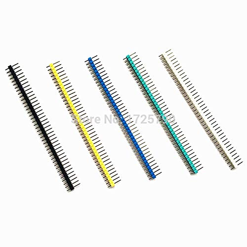 Gimax 10PCS/LOT 40P 2.54mm Single Row Male Color Pin Header Connector ()