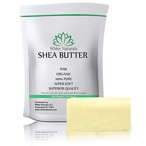 - Shea Butter 1 lb Pure, Raw, Unrefined, Grade A, Ivory, Perfect Skin Moisturizer, DIY Lip Balms, Stretch Marks, Eczema, Acne, Recover Sun Damage, Kids Cream 16 oz by White Naturals
