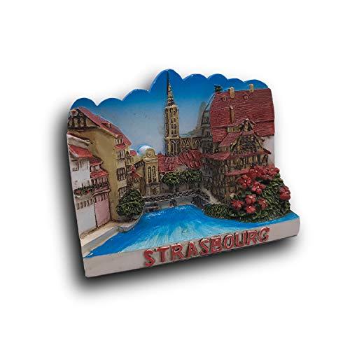 3D Strasbourg France Refrigerator Fridge Magnet Tourist Souvenirs Handmade Resin Craft Magnetic Stickers Home Kitchen Decoration Travel Gift