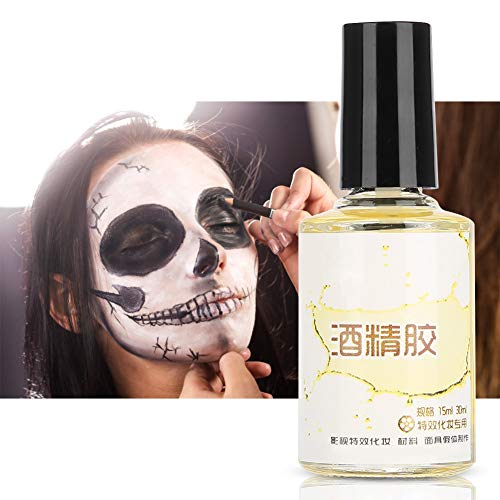 Scar Skin Wax, 15ml Professional Fake Wound Scar Special Effect Glue Stretch Oil Special Makeup Tool for Halloween Face Paint]()