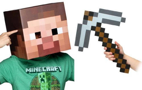 Steve Head Costume (Minecraft 12