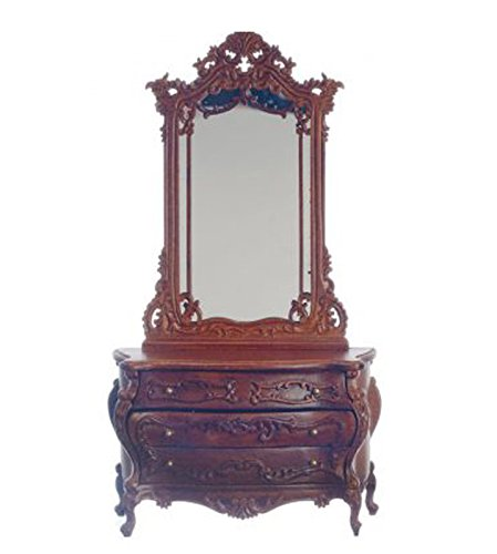 - Sale Dollhouse Miniature Bourbon Dresser w/Mirror