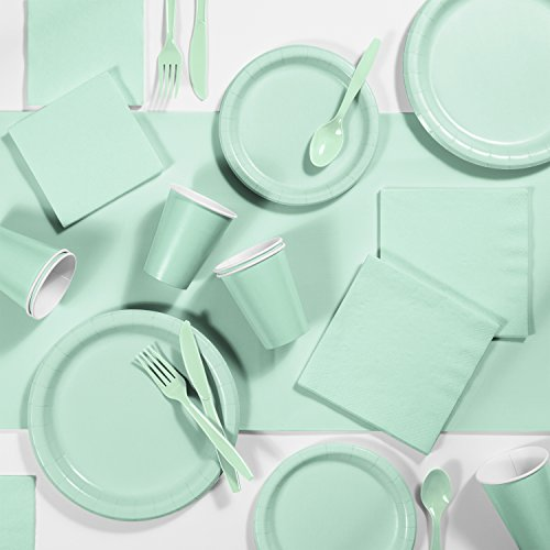 Fresh Mint Green Party Supplies Kit, Serves 24 -