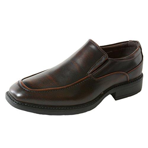alpine swiss Brig Mens Classic Moc Toe Dress Shoes