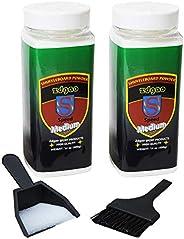 Shuffleboard Powder Wax with Mini Broom and Dustpan for Table Shuffleboard Games 2pcaks (Mediun Spped)