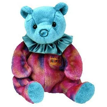 fbee03bf493 Amazon.com  Ty Beanie Baby December Turquoise Birthstone Teddy Happy ...