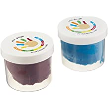 eco-kids Eco-Dough 2 Pack Moon Natural Playing, Purple/Blue