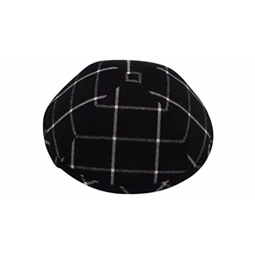 hot iKIPPAH Black Plaid Yarmulke