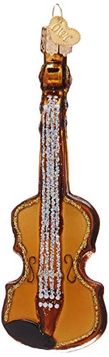 Old World Christmas Ornaments: Violin Glass Blown Ornaments for Christmas Tree (38008)