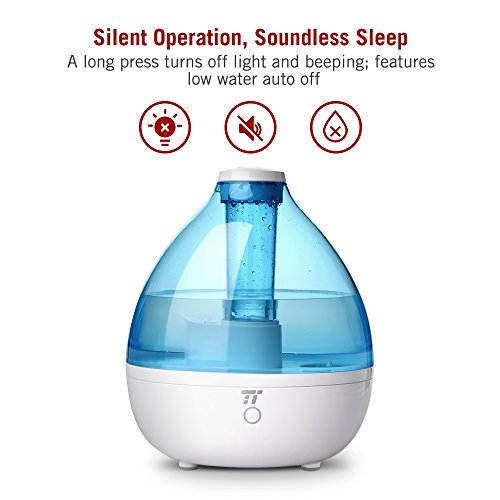 Humidifiers for Bedroom, TaoTronics 2.3L Cool Mist Ultrasonic Humidifier