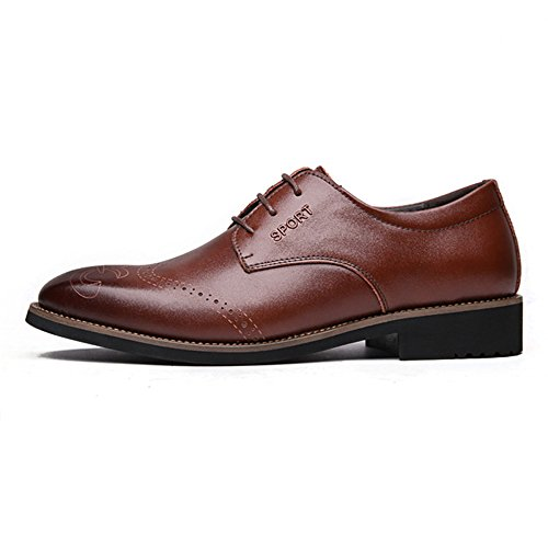 Chaussures Chaussures Derbies Homme Toe Low Brown Dress Chaussures à Bout snfgoij en Pointu Leather Cuir Homme Lacets zgx4w7O