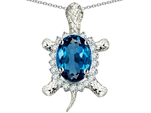 Star K Sterling Silver Good Luck Turtle Pendant Necklace