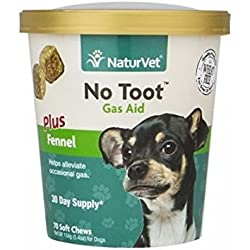 Naturvet No Toot Dog Gas Aid Soft Chews For Dogs, 70 count