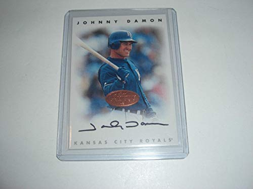 Damon Autographed Johnny Baseball (Johnny Damon Kansas City Royals 1996 Leaf Auto Auto Signature Series Signed Card - MLB Autographed Baseball Cards)