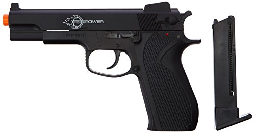 Firepower .45 Metal Slide Airsoft Pistol, 6mm (Best Spring Loaded Airsoft Pistol)