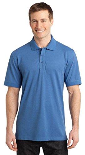 Port Authority Men's Stretch Pique Polo. K555 L Moonlight Blue - Mens Poly Spandex