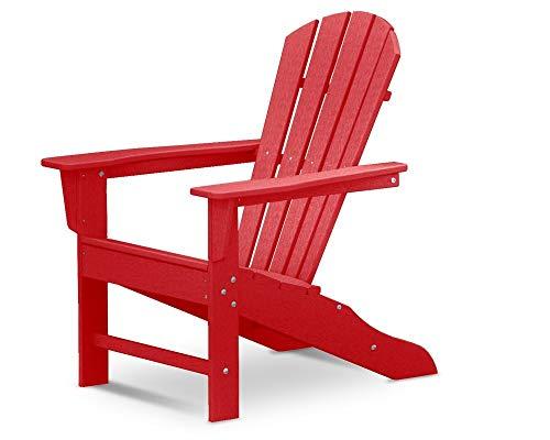 POLYWOOD HNA10-SR Palm Coast Adirondack Chair, Sunset Red