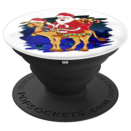 Funny Santa Riding Camel Christmas Gift - PopSockets Grip and Stand for Phones and Tablets