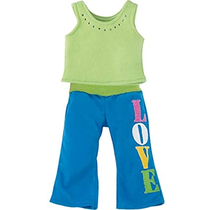 Amazon.com: Sophias 15 Inch Doll Casual Love Outfit Colorful Baby Doll Pants Shirt 15 inch Dolls, Perfect Bitty Baby Dolls & More!: Toys & Games