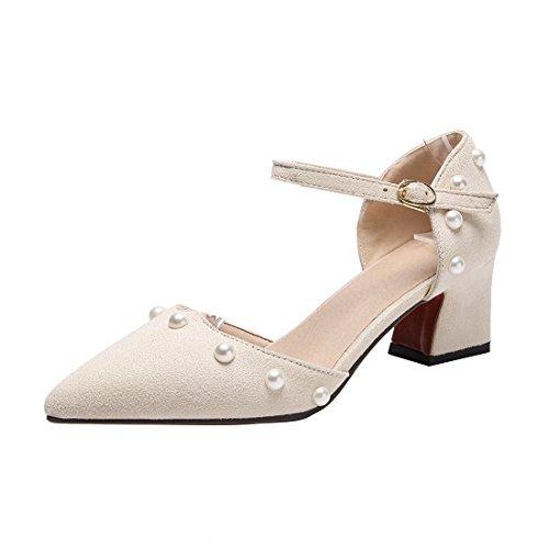 YE Damen Ankle Strap Pumps Blockabsatz Spitze High Heels mit Riemchen Elegant  Schuhe - sommerprogramme.de 994091a419