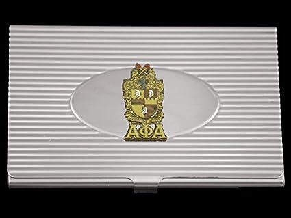 Amazon alpha phi alpha fraternity business card holder silver alpha phi alpha fraternity business card holder silver colourmoves
