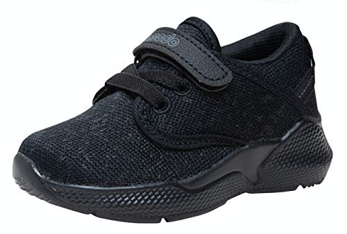 COODO Toddler Kid's Sneakers Boys Girls Cute Casual Running Shoes (5 Toddler,Graphite)