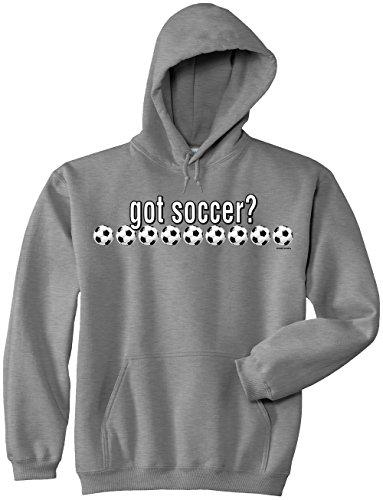 Ash Youth Football - Soccer Hooded Sweatshirt: Got Soccer-Ash-Youth Large