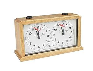 INSA Wooden Mechanical Chess Clock - Light Wood