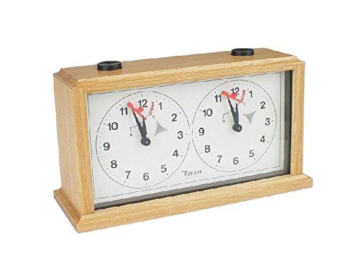 - INSA Wooden Mechanical Chess Clock - Light Wood
