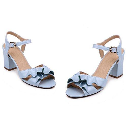 Sandals Blue Women Heels Sweet TAOFFEN Block wxpagXq