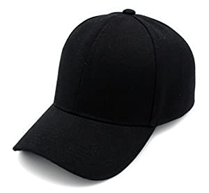 Top Level Baseball Cap For Men and Women by Cool Sporting Hat With Adjustable Velcro Backclosure Top Quality, Black
