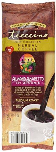 Teeccino Mediterranean Herbal Coffee Almond Amaretto -- 11 (11 Ounce Almond Treat)