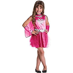 - 41uBuwOCdLL - UNK Supergirl Pink Child Tutu Dress Halloween Costume. Girls Small