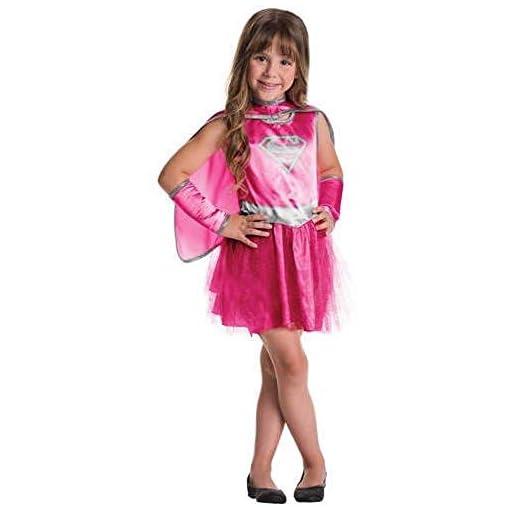 UNK Supergirl Pink Child Tutu Dress Halloween Costume. Girls Small