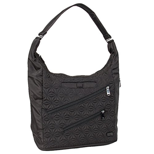 Lug Jamboree Shoulder Bag, Brushed Black (Lug Purses Handbags)