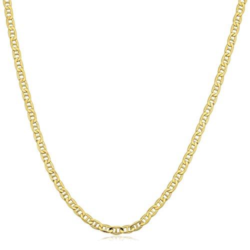 Kooljewelry 10k Yellow Gold Mariner Link Chain Necklace (2.3 mm, 18 inch)