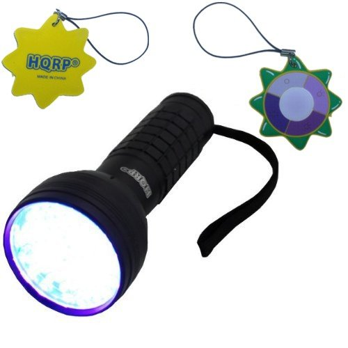 - HQRP Scorpion Hunting UV Flashlight with a Large Coverage Area 76 LED with 390 nM wavelength plus HQRP UV Meter
