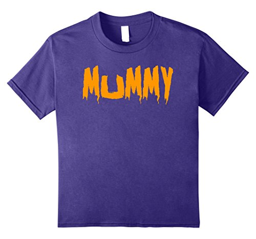 Mommy Daddy Daughter Halloween Costumes (Kids Mom's Mummy T-Shirt Funny Mother's Halloween Costume Party 8 Purple)