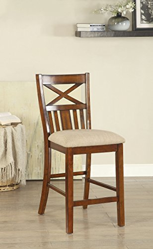 (Furniture of America CM3037PC-2PK Arlington Counter Height Set of 2 Dining Chairs)