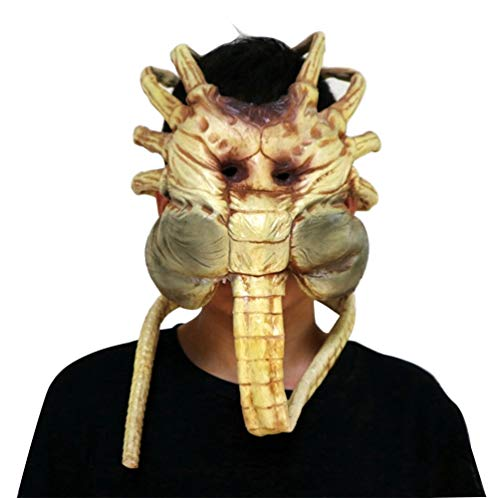 Gmasking 2019 Alien Facehugger Latex Adult Face Mask 1:1 Replica Halloween Costume ()