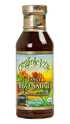 OrganicVille Organic Hot and Spicy Barbeque Sauce, 13.5 Ounce - 6 per case. (Agave Sauce Bbq)