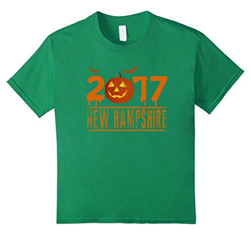 Kids Halloween Scare in New Hampshire 2017 Gift Funny Shirt 12 Kelly (New Hampshire Halloween 2017)