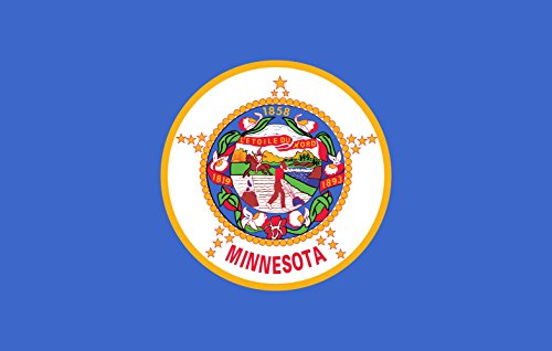 magFlags XXL Flag Minnesota  | landscape flag | 3.375m² | 36sqft | 150x225cm | 5x7.5ft - 100% Made in Germany - long lasting outdoor flag Minnesota Lawn Guide