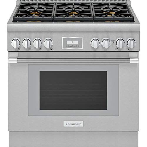 Thermador PRG366WH 5.1 Cu.Ft. Stainless Smart Gas Range