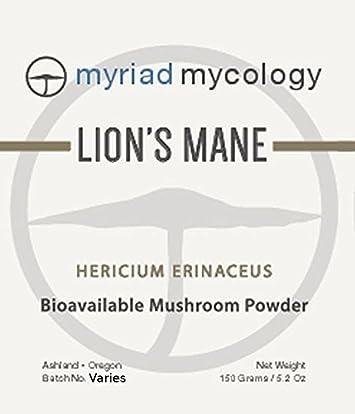 Myriad Mycology Lion s Mane Mushroom Powder 5.2oz or 150g, Made in USA Hou Tou Gu